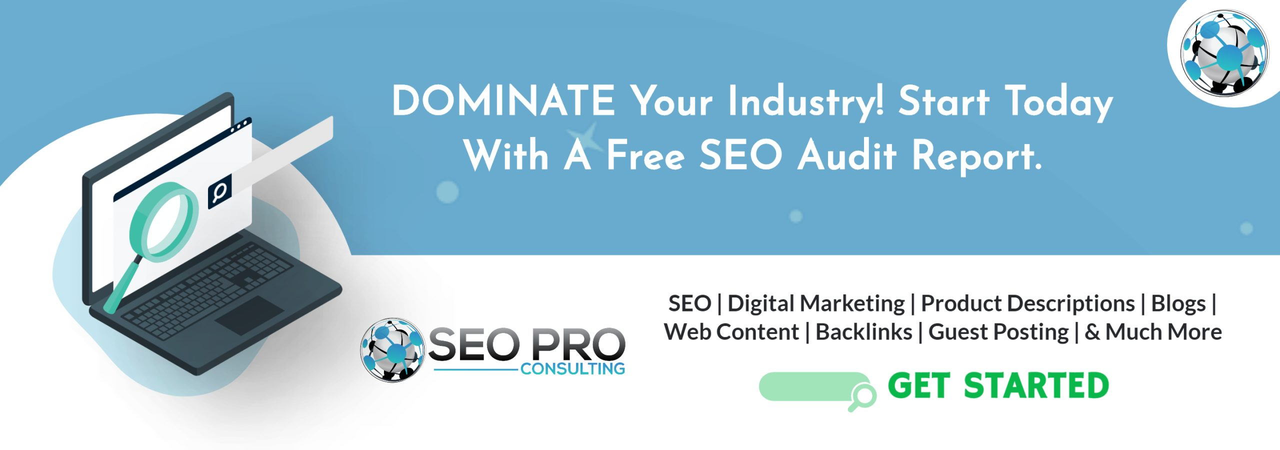 seo audit guide blog post banner immage